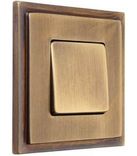 Одноклавишный выключатель в сборе FEDE Madrid, matt patina