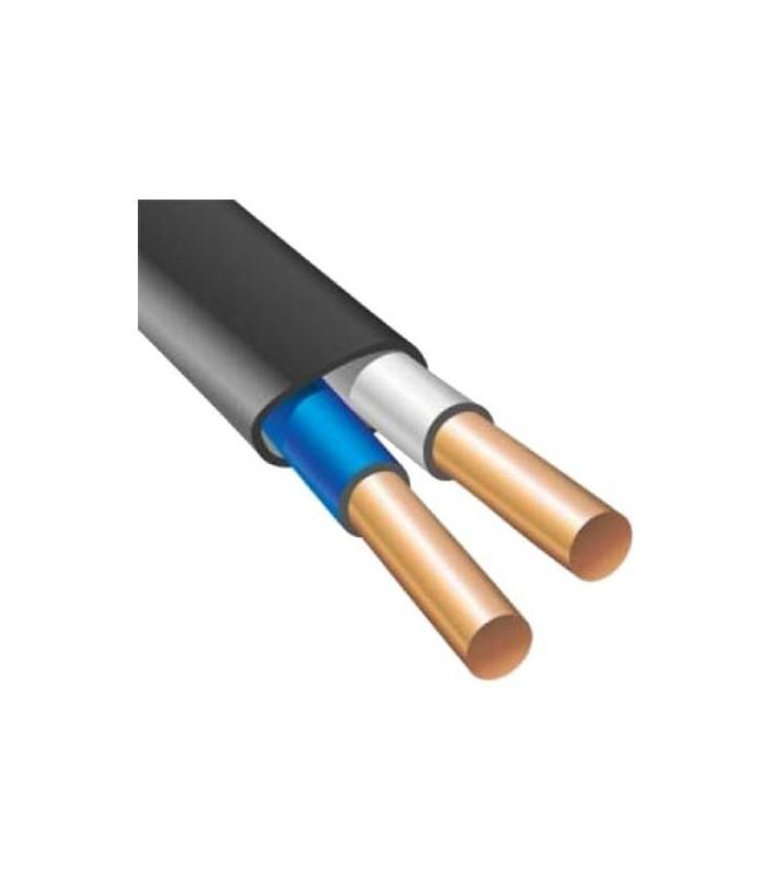 Силовой кабель электрический ВВГнг 2x6п, черный