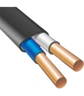 Силовой кабель электрический ВВГнг 2x1.5п, черный