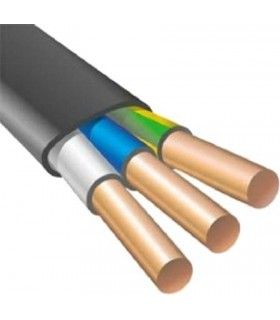 Силовой кабель электрический ВВГнг 3x2.5п, черный