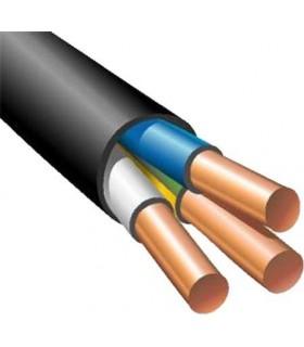 Силовой кабель электрический ВВГнг 3x6, черный