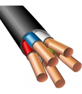 Силовой кабель электрический ВВГнг 5x2.5, черный
