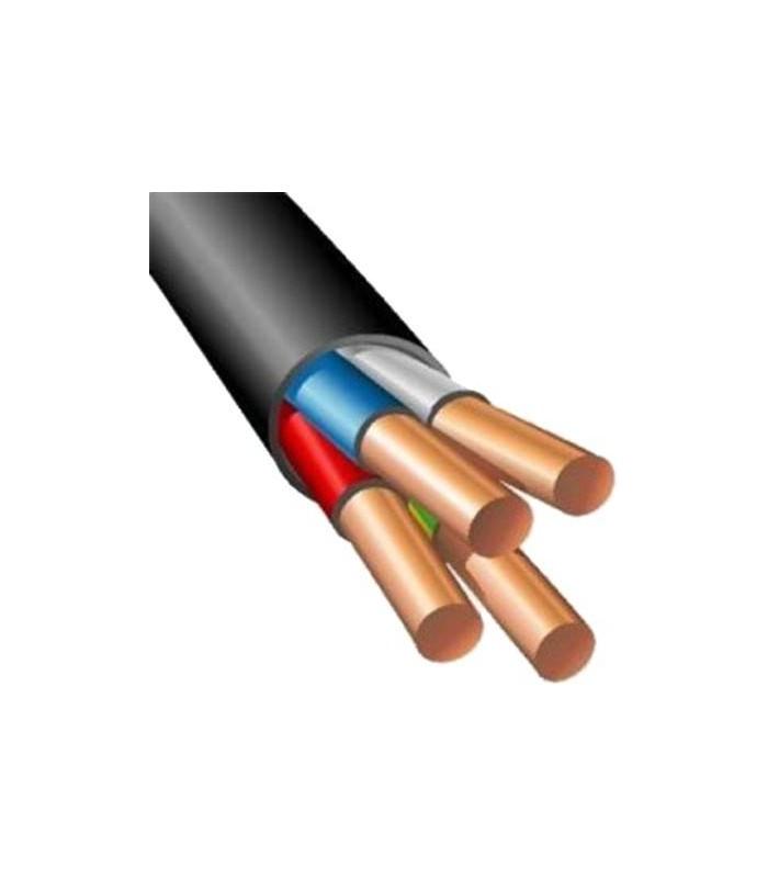 Силовой кабель электрический ВВГнг 4x6, черный