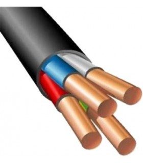 Силовой кабель электрический ВВГнг-LS 4x4, черный