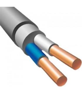 Силовой кабель электрический NYM 2x1.5, серый