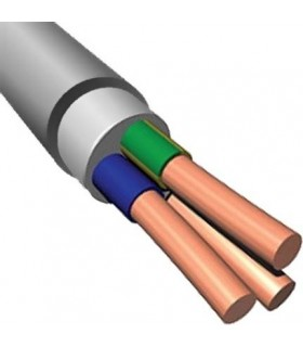 Силовой кабель электрический NYM 3x6, серый