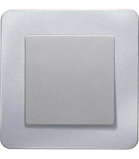 Одноклавишный выключатель в сборе Berker Q.7, алюминий струйная обработка