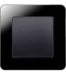 Одноклавишный выключатель в сборе Berker Q.7, стекло цвет черный
