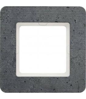 Рамка на 1 пост Berker Q.7, текстурированный бетон
