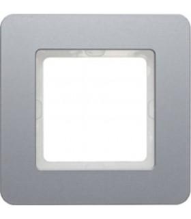 Рамка на 1 пост Berker Q.7, алюминий струйная обработка