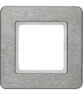 Рамка на 1 пост Berker Q.7, нержавеющая сталь с крацованной поверхностью