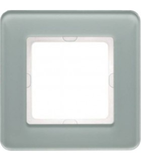 Рамка на 1 пост Berker Q.7, стекло цвет полярная белизна