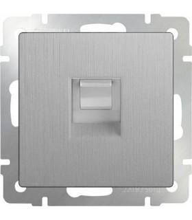 Розетка Ethernet RJ-45 Werkel, серебряный рифленый