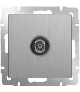 ТВ-розетка оконечная Werkel, серебряный рифленый