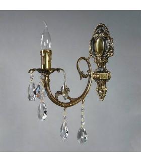 Бра AMBIENTE by BRIZZI серия ALICANTE, 8888/1 PB Tear drop, блестящая бронза