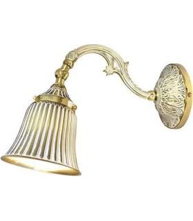 Настенный светильник из латуни FEDE SIRACUSA I, gold white patina