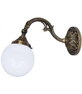 Настенный светильник из латуни с плафоном FEDE SIRACUSA I, bright patina