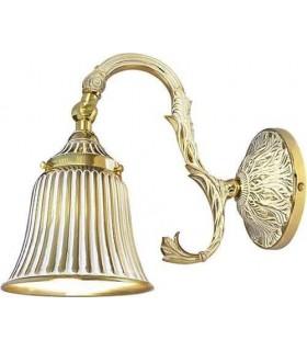 Настенный светильник из латуни FEDE SIRACUSA II, gold white patina