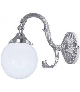 Настенный светильник из латуни с плафоном FEDE SIRACUSA II, bright chrome