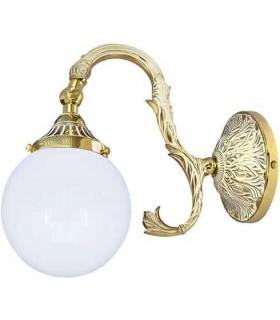Настенный светильник из латуни с плафоном FEDE SIRACUSA II, gold white patina