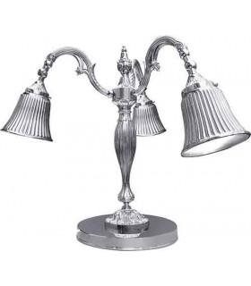 Настольная лампа из латуни FEDE CATANIA I, bright chrome