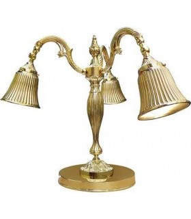 Настольная лампа из латуни FEDE CATANIA I, bright gold
