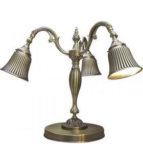Настольная лампа из латуни FEDE CATANIA I, bright patina
