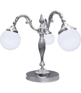 Настольная лампа из латуни с плафоном FEDE CATANIA I, bright chrome