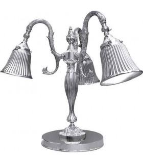 Настольная лампа из латуни FEDE CATANIA II, bright chrome