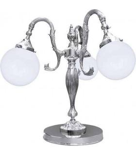Настольная лампа из латуни с плафоном FEDE CATANIA II, bright chrome