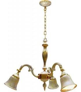 Потолочная люстра из латуни FEDE MILAZZO I, gold white patina