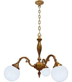 Потолочная люстра из латуни с плафоном FEDE MILAZZO I, bright gold