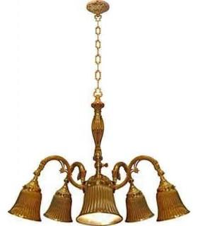 Потолочная люстра из латуни FEDE MILAZZO III, bright gold