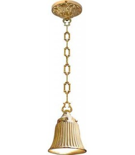 Подвесной потолочный светильник из латуни FEDE MESSINA, bright gold