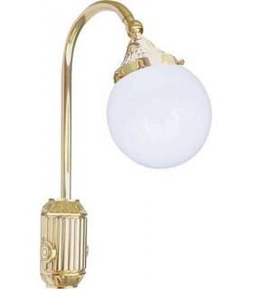 Накладной настенный светильник из латуни FEDE TIVOLI, gold white patina