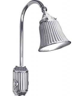 Накладной настенный светильник из латуни с плафоном FEDE TIVOLI, bright chrome
