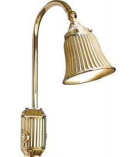 Накладной настенный светильник из латуни с плафоном FEDE TIVOLI, bright gold