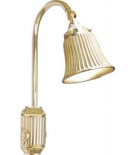 Накладной настенный светильник из латуни с плафоном FEDE TIVOLI, gold white patina