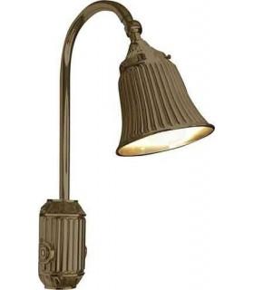 Накладной настенный светильник из латуни с плафоном FEDE TIVOLI, bright patina