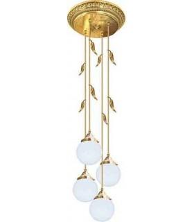 Потолочная люстра из латуни с плафоном (FD1172) FEDE PALERMO I, bright gold