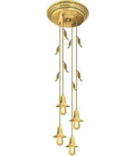 Потолочная люстра из латуни с ретро лампой EDISON (FDRETRO-E2740) FEDE PALERMO I, bright gold