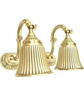Двойной настенный светильник из латуни FEDE SAN MARINO I, bright gold