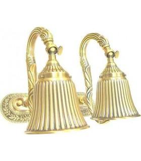 Двойной настенный светильник из латуни FEDE SAN MARINO II, bright gold