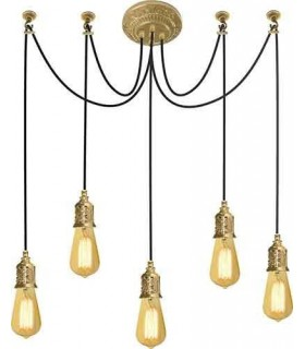 Потолочная люстра из латуни FEDE GENOVA I, bright gold