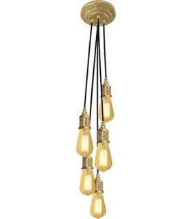 Потолочная люстра из латуни FEDE GENOVA II, bright gold