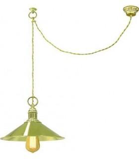 Потолочный светильник из латуни FEDE MARSALA, gold white patina