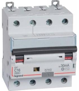 Дифференциальный автоматический выключатель Legrand DX3 4П 20A Тип AC 30mA