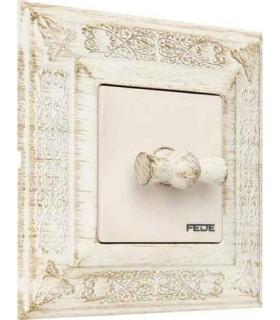 Поворотный выключатель FEDE серии Granada White Decape