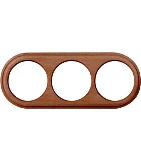 Рамка на 3 поста для наружного монтажа Werkel Legend, итальянский орех