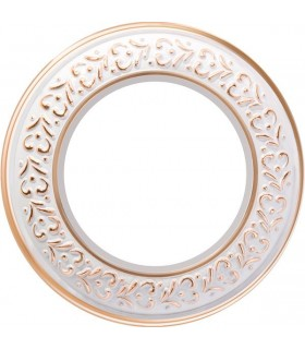 Рамка на 1 пост для наружного монтажа Werkel Antik Runda, белое золото